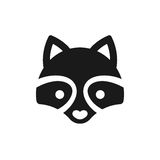 Minimal Raccoon icon Royalty Free Stock Photography