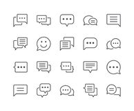 Minimal Set of Chat Bubble Line Icons. Editable Stroke. 48x48 Pixel Perfect Royalty Free Stock Photos