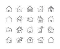 Minimal Set of Smart Home Line Icons. Editable Stroke. 48x48 Pixel Perfect Royalty Free Stock Photos