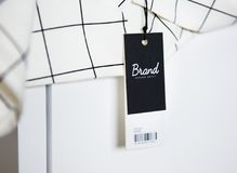 Minimal shirt design with price tag stock image