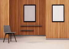 Minimal Space Chair and picture frame Minimal Art Stock Photography