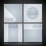 4 minimal square backgrounds for advertising or web design Royalty Free Stock Image