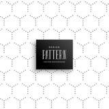Minimal subtle hexagonal dots pattern background vector illustration
