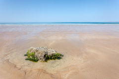 Minimal summer landscape, sandy beach and blue sky Royalty Free Stock Photography