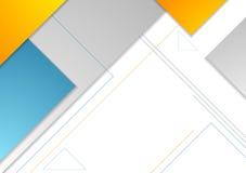 Minimal tech geometric brochure vector design Stock Photo