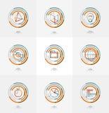 Minimal thin line design web icon set, stamps Stock Photos