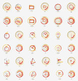 Minimal thin line design web icon set, stamps Stock Photography