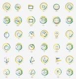 Minimal thin line design web icon set, stamps Royalty Free Stock Image