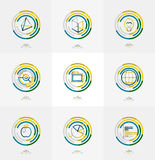 Minimal thin line design web icon set Royalty Free Stock Photography