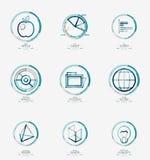 Minimal thin line design web icon set Stock Images