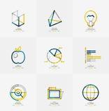 Minimal thin line design web icon set Stock Photos