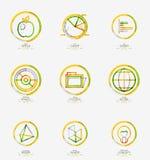Minimal thin line design web icon set Stock Photo