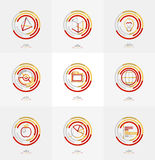 Minimal thin line design web icon set Stock Images