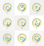 Minimal thin line design web icon set Royalty Free Stock Images