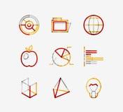 Minimal thin line design web icon set Stock Photography