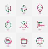 Minimal thin line design web icon set Royalty Free Stock Images
