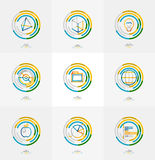 Minimal thin line design web icon set Stock Image