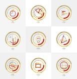 Minimal thin line design web icon set Royalty Free Stock Photography