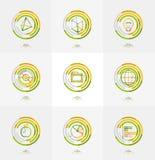 Minimal thin line design web icon set Royalty Free Stock Photos