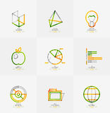 Minimal thin line design web icon set Royalty Free Stock Image