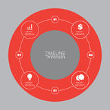 Minimal Timeline Circle Design - Infographic Elements with Icons Royalty Free Stock Photos