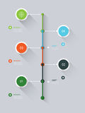 Minimal timeline infographic long shadow design Royalty Free Stock Photography