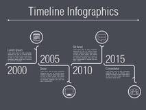 Minimal Timeline Infographics Stock Photo