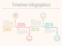 Minimal Timeline Infographics Royalty Free Stock Photo