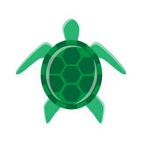 Minimal turtle illustration. That can be used for a logo or as isolated graphic element Stock Image