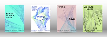 Minimal vector cover design with  linear waves. Minimum coverage of a vector. A set of modern abstract backgrounds with abstract gradient linear waves vector illustration