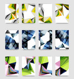 Minimal vector covers background set Royalty Free Stock Image