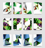 Minimal vector covers background set Royalty Free Stock Images