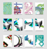 Minimal vector covers background set Stock Photos