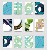 Minimal vector covers background set Stock Images