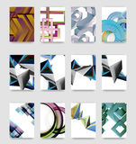 Minimal vector covers background set Royalty Free Stock Photos
