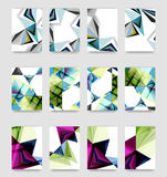 Minimal vector covers background set Stock Photography