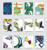 Minimal vector covers background set Royalty Free Stock Photo
