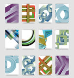 Minimal vector covers background set Stock Photo