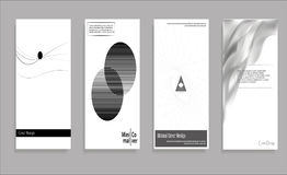 Minimal Vector covers design. Black and white. Future Poster template. Minimal Vector covers design. Black and white. Future Poster template stock illustration