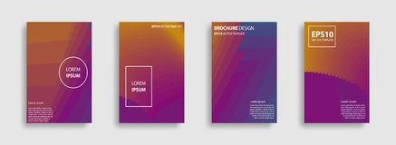 Minimal Vector covers design. Minimal covers set. Abstract 3d meshes. Covers with minimal design. Brochure. Geometric halftone gradients. Applicable for Stock Illustration