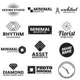 Minimal Vector Logo for banner Royalty Free Stock Images