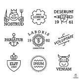 Minimal vintage labels Stock Photo