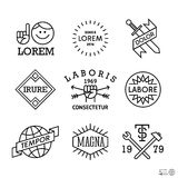 Minimal vintage labels Royalty Free Stock Photos