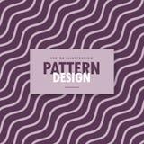 minimal wavy diagonal lines in purple color shades Royalty Free Stock Photos