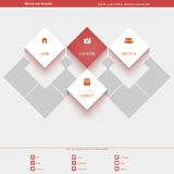 Minimal Web Template for corporate or portfolio. Site. This is file of EPS10 format Royalty Free Stock Photos
