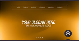 Minimal Website Home Page Design with Slider background. And space for text in header and footer Stock Photos