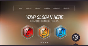 Minimal Website Home Page Design with Slider background Royalty Free Stock Images