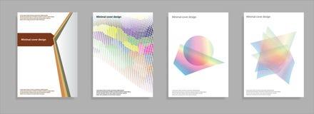 Minimale Abdeckungen eingestellt Zukünftiges geometrisches Design Abstrakte Maschen 3d Vektor Eps10 Lizenzfreie Stockbilder