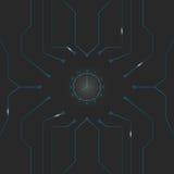 Minimale Abstracte vectorachtergrond met klok en lijn Royalty-vrije Stock Foto's