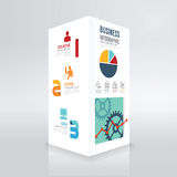 Minimale Art der modernen Schablone Kasten Designs infographic Lizenzfreie Stockfotografie